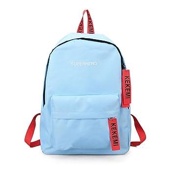bolsos de playa de mujer Sannysis mochilas escolares juveniles bolsos de mano mujer fiesta con Letra Imprimir de bordado (azul): Amazon.es: Deportes y aire ...