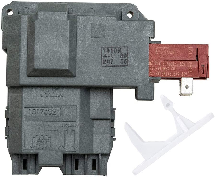 1317632 131763256 Door Lock Switch Assembly & 1317633 131763310 Door Strike for Electrolux Frigidaire Kenmore Crosley GE Front Load Washer. Replace Parts 131763256 131763202 & 131763310 131763300