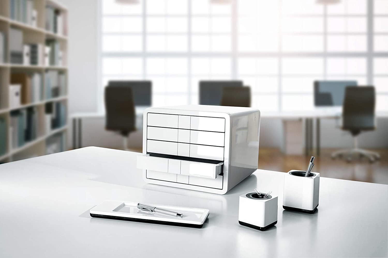 dise/ño moderno color negro 5 cajones Han 1551-13 iBox Clasificador de escritorio
