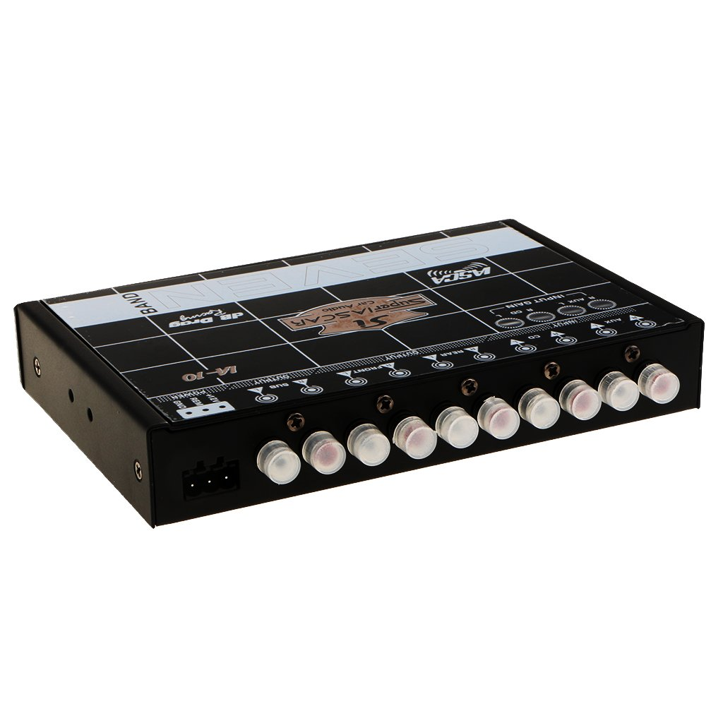Sharplace EQ7 Voiture É galiseur Audio Eq Avant Arriè re sous Sortie 10-14.4v DC