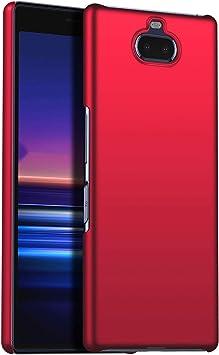 1SourceTek Compatible para Funda Sony Xperia 20 Estuche Protector para Celular Delgado Minimalista Protector Anti-Rasguño de Alta Calidad para Sony Xperia 20(Rojo Liso): Amazon.es: Belleza