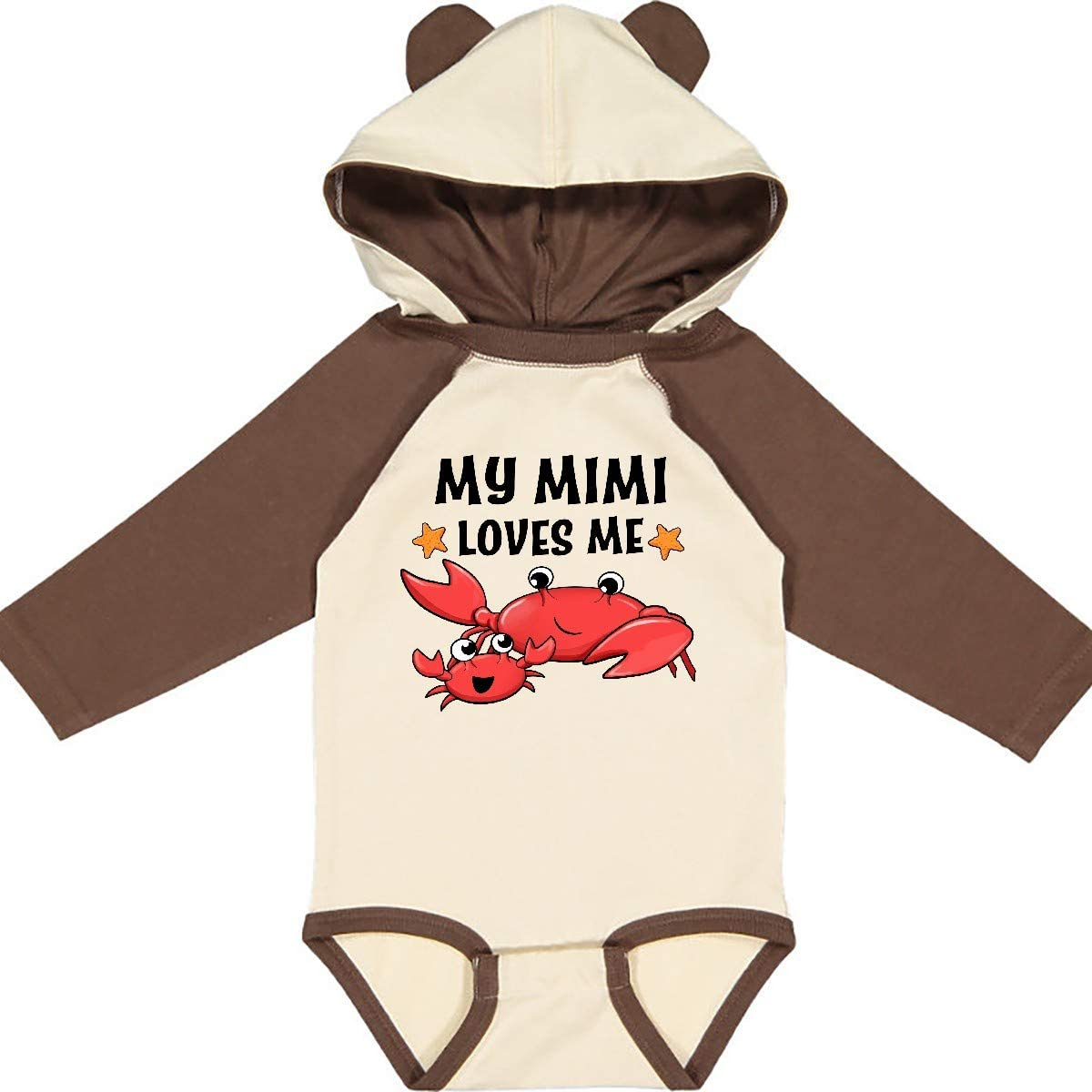 Cute Crab Family Long Sleeve Creeper inktastic My Mimi Loves Me