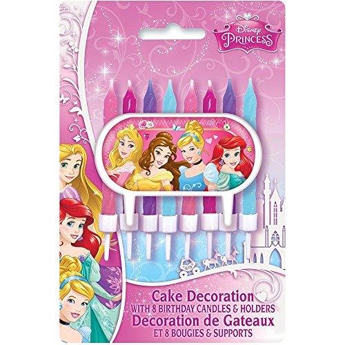 [Disney Princess Cake Topper & Birthday Candle Set] (Disney Princess Cinderella Candle)