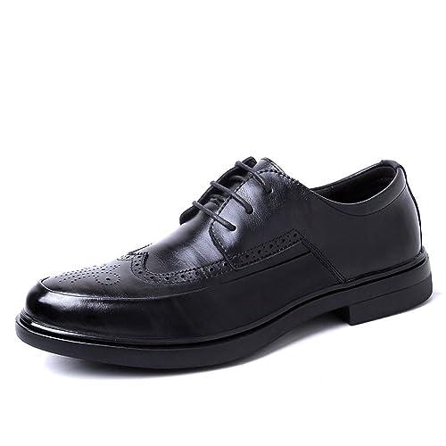 Zapatillas Bullock para Hombre, Zapatillas De Vestir Casual Negras, Zapatos Retro Redondos para Herramientas, Zapatos De Vestir con Cordones para Hombres: ...