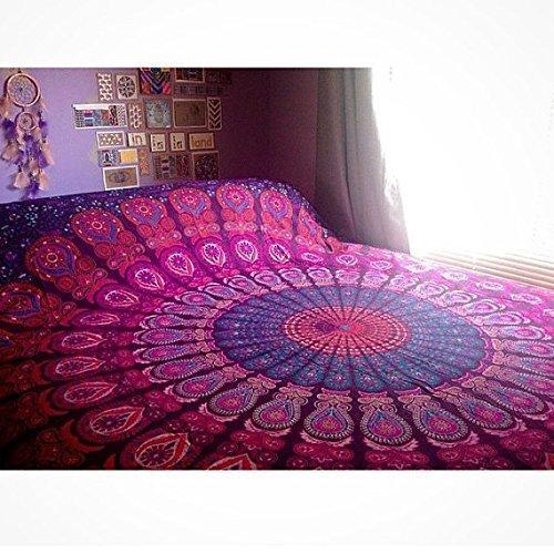 Indian Wall Hanging Hippie Mandala Tapestry Bohemian Bedspre