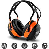 FM MP3 Bluetooth Radio Headphones Wireless Cancelling Headphones with 4GB SD Card Built-in Mic Electronic Noise Reduction Saf
