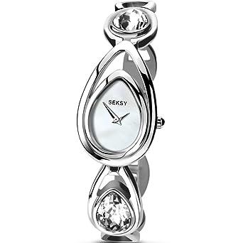 Seksy Crystal Watch Sekonda Ladies Silver Tone Drop Rrp 4005 Tear LzVSpGqUMj