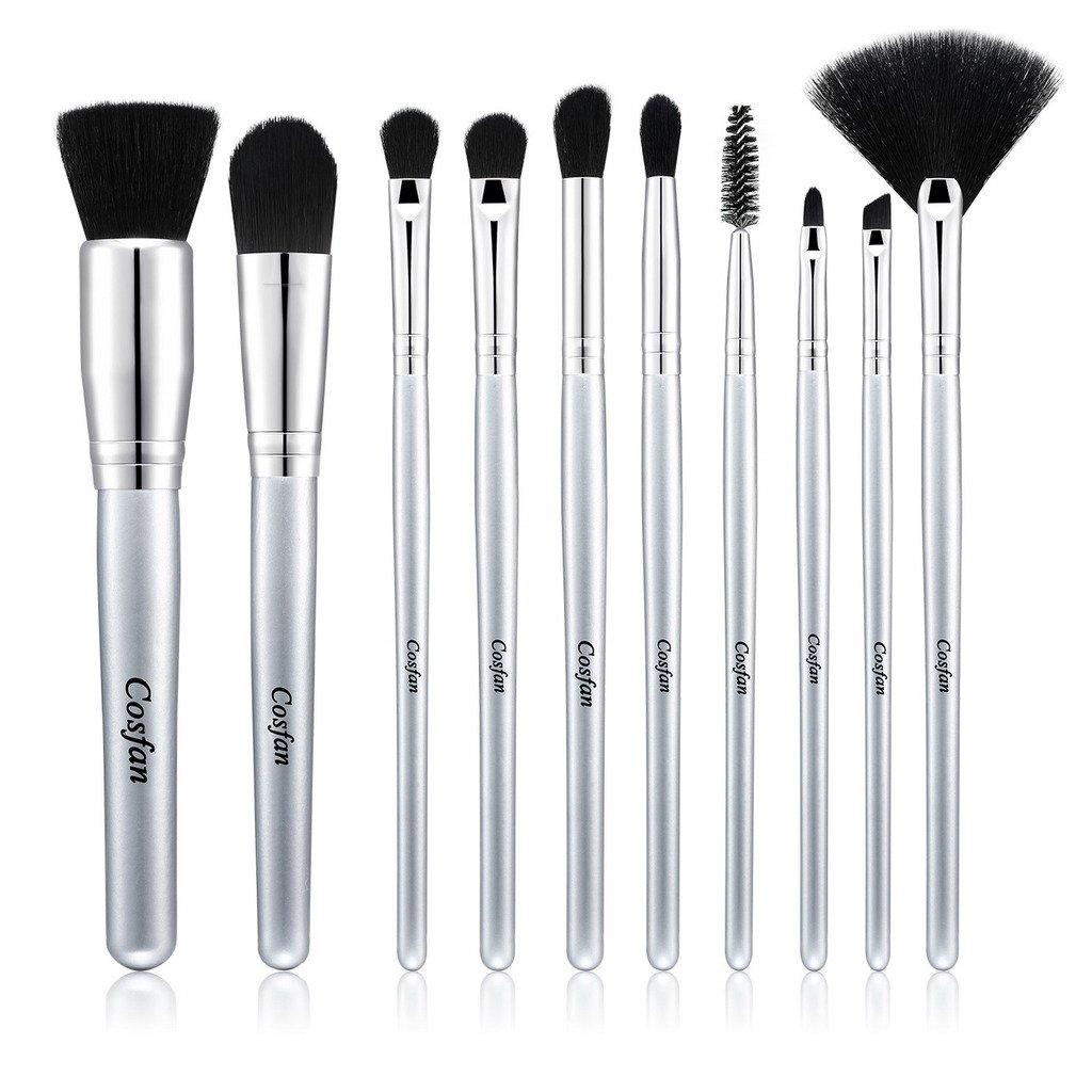 8 PCS Pinceau Maquillage Brosse Professionnelle Premium Synthétique Kabuki Fondation Maquillage Correcteur Eye Liquide Poudre Crème Cosmétique Pinceaux Kit Pour les lèvres des yeux Beauté sans défaut Cosfan