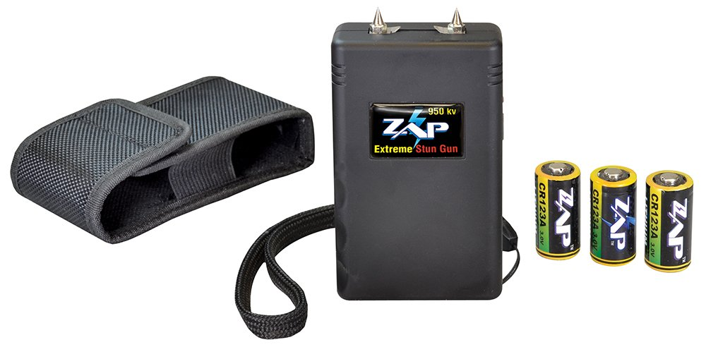 Zap Stun Gun Pocket Lightweight 950,000 Volts Black