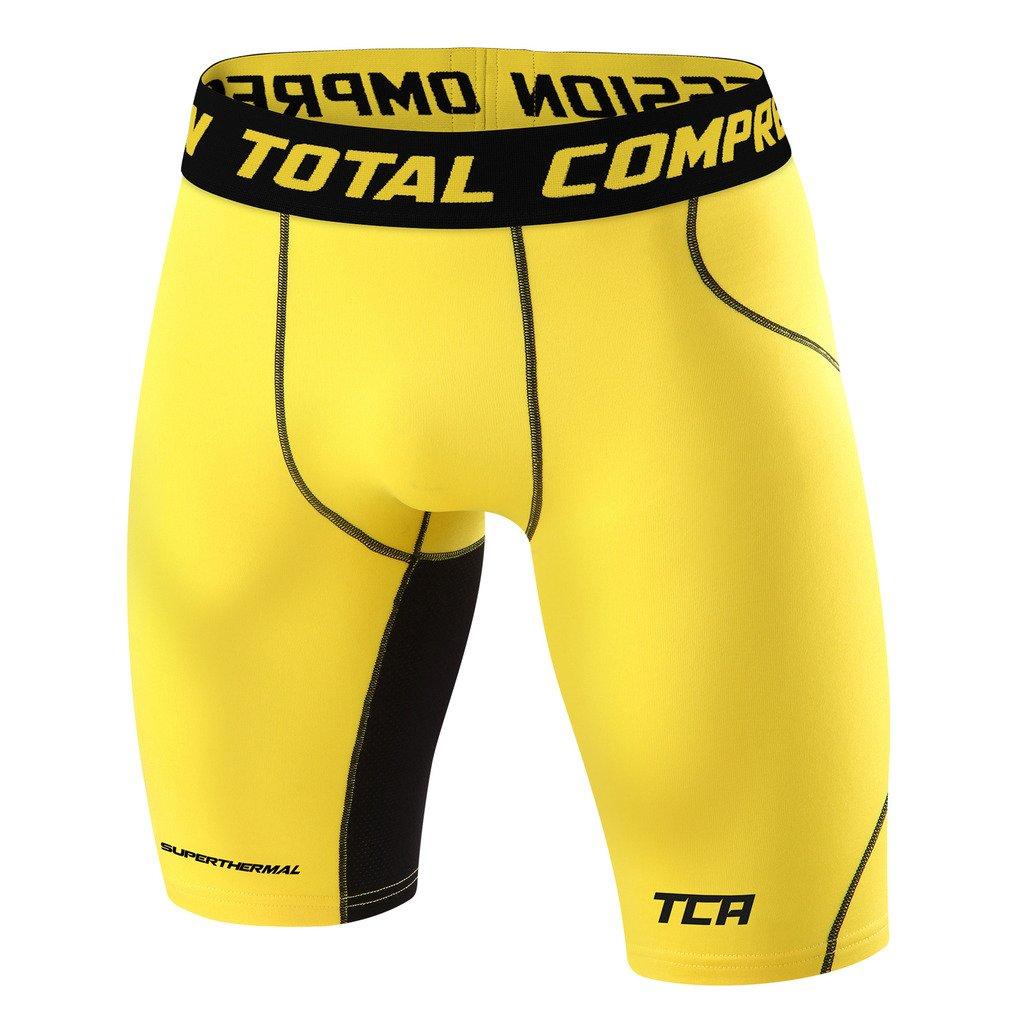 メンズBoys TCA SuperThermal圧縮ベースレイヤーThermal Under Shorts B00OJDR4KI XX-Large|Sonic Yellow Sonic Yellow XX-Large