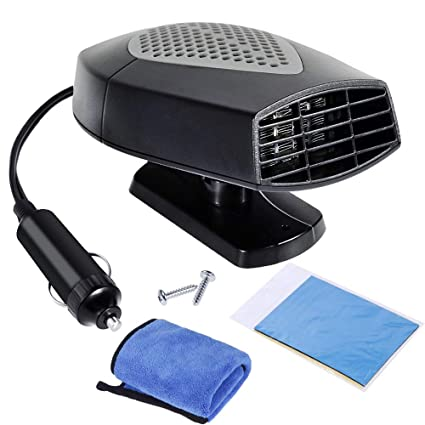 Grey CICL Portable Car Heater 12V Fast Heating Car Defroster 2 in 1 Auto Heater//Cooling Fan Car Windscreen Demister Heater