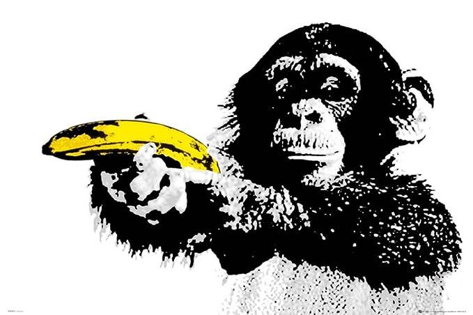 Amazon GB Eye Monkey Banana Shoot Poster Home Kitchen