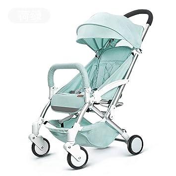 GFGF Cochecito de bebé El Paraguas Plegable Ligero del Cochecito de bebé Puede Sentarse el Mini