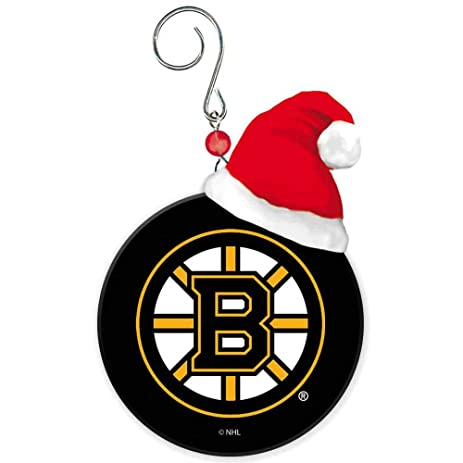 Boston Bruins Team Puck With Santa Hat Christmas Ornament by Fans With Pride - Amazon.com: Boston Bruins Team Puck With Santa Hat Christmas