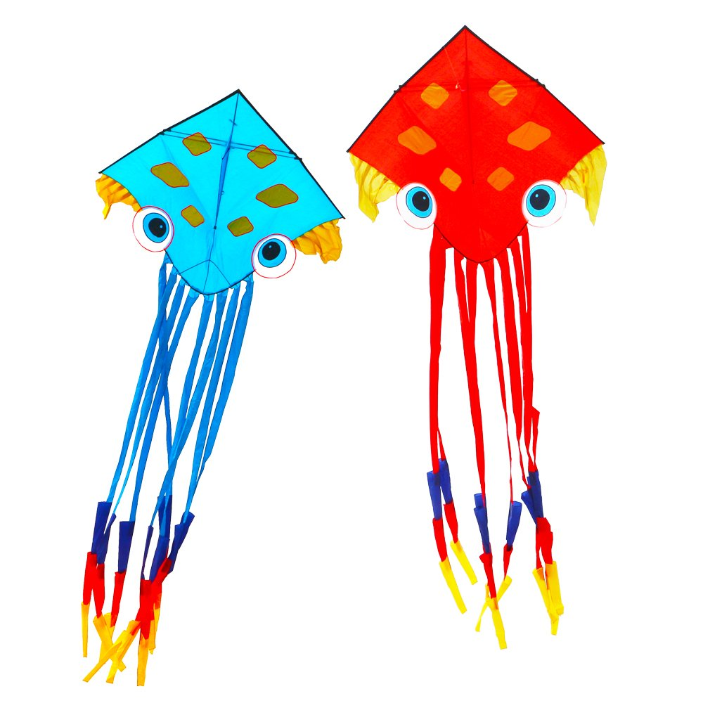 Saled by Factory Hongyun Easy-fly Eight-claw-octopus Kite with Flying Tools from Weifang City, Outdoor Flight sports Toys for Kids&Adults