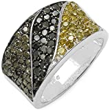 1.32 ct. t.w. Genuine Multi Colour Diamond in Sterling Silver Ring