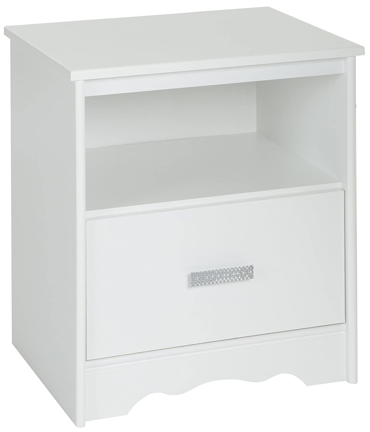 South Shore Furniture Tiara 1-Drawer Night Stand, Pure White 9059062