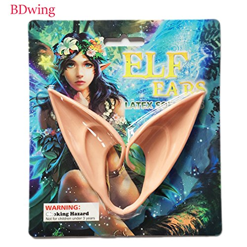 Elven Ears - Bdwing BD06 Cosplay Fairy Pixie Elf Ears - Great for Anime Party Halloween Vampire Costume Accessories, Soft pointed prosthetic tips latex ear - Long Style(2 (Pointed Ears Costume)