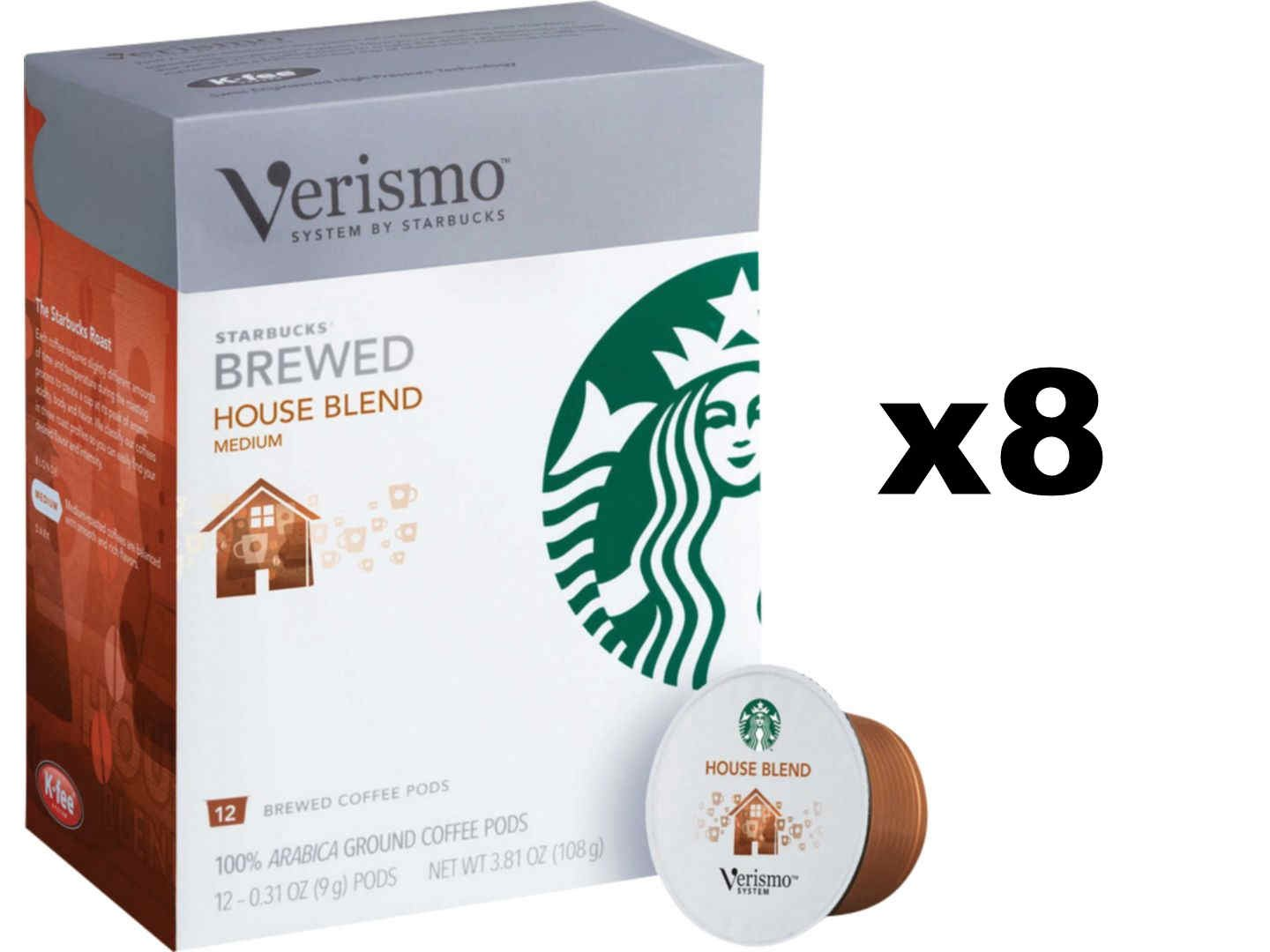 Starbucks House Blend Brewed Coffee Verismo Pods (96 Count)