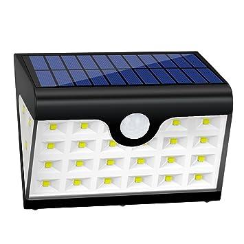 Lámpara LED GrandBeing Aplique 16 LED de Pared con Panel Solar, Luz Solar de Exterior