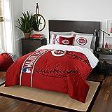 Northwest NOR-1MLB836000007BBB 76 x 86 Cincinnati Reds MLB Full Comforter Set, Soft & Cozy
