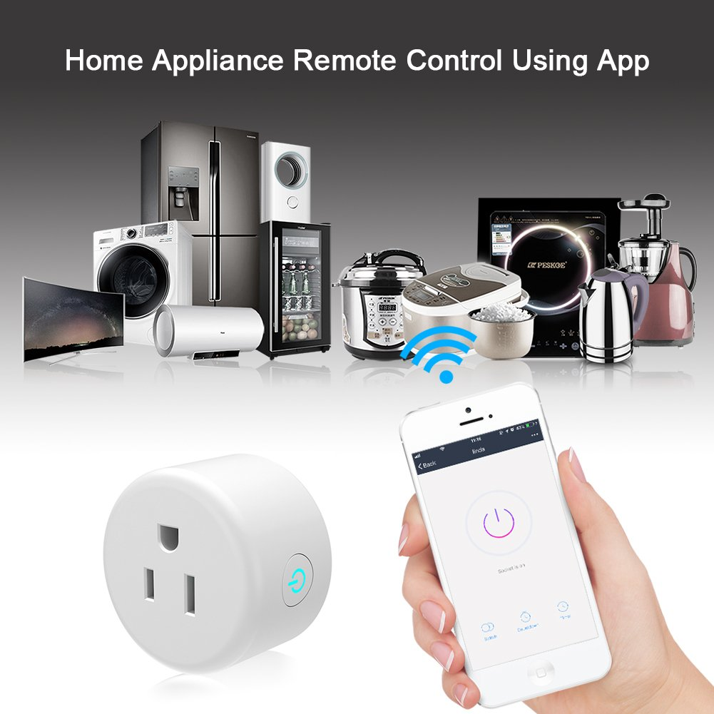 Smart Plug, Lightstory Mini Wi-Fi Socket Outlet Works with Alexa Echo/dot Compatible with Google Home Assistant IFTTT, Remote Control Your Devices from Anywhere, No Hub Required by LIGHTSTORY (Image #3)