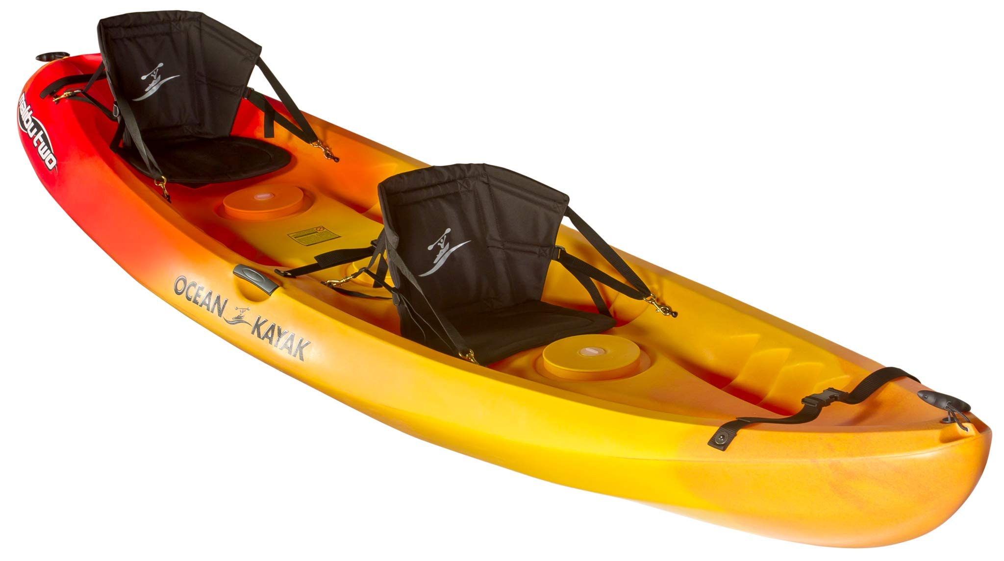 Ocean Kayak Malibu Two Tandem Sit-On-Top Recreational Kayak (Sunrise, 12-Feet) by Ocean Kayak