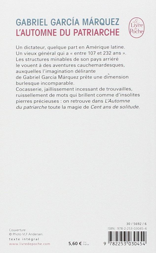 L Automne Du Patriarche Le Livre De Poche French Edition