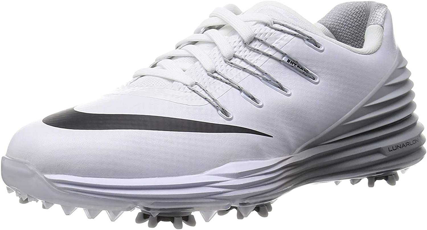 Amazon Com Nike Lunar Control 4 Golf Shoes White Grey Women S 9 5 Wide Golf