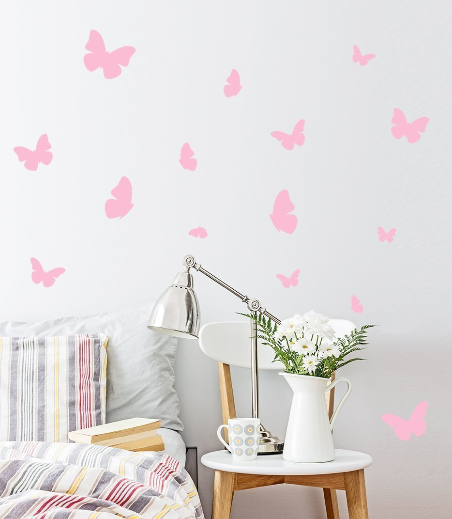 A Butterfly in the room / Butterflies Wall Decal / 54 Butterfly Wall Sticker / Bedroom Wall decal / Nursery decal / Butterflies Wall Decal / gift
