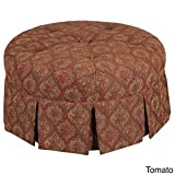 Cheap Leffler Home 12000-16-05-01 Tomato Ava Round Pleated Upholstered Ottoman, Red