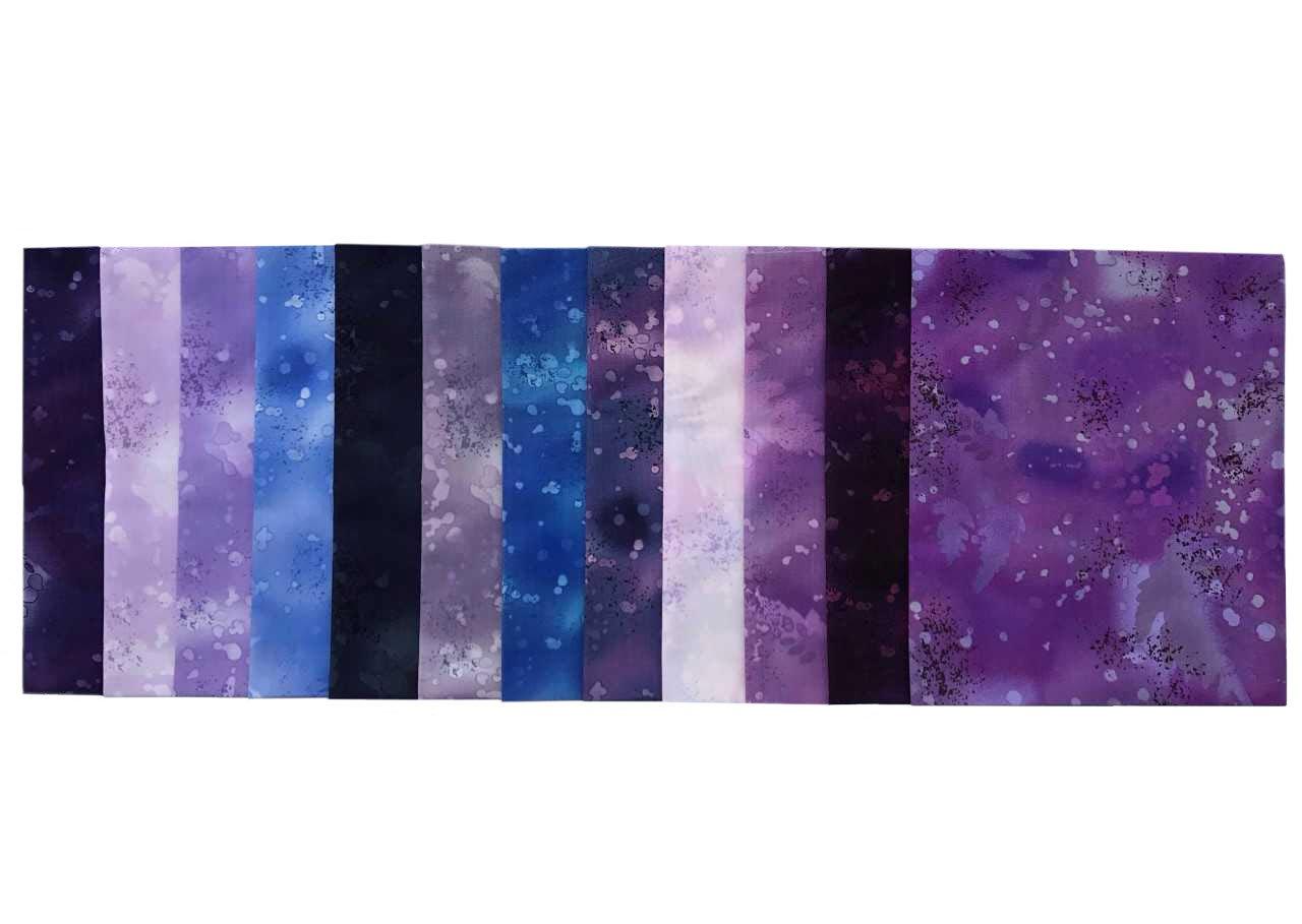 Fossil Fern Pastels 11 pc Cotton Fabric Quilting FQs Assortment by Benartex Studio