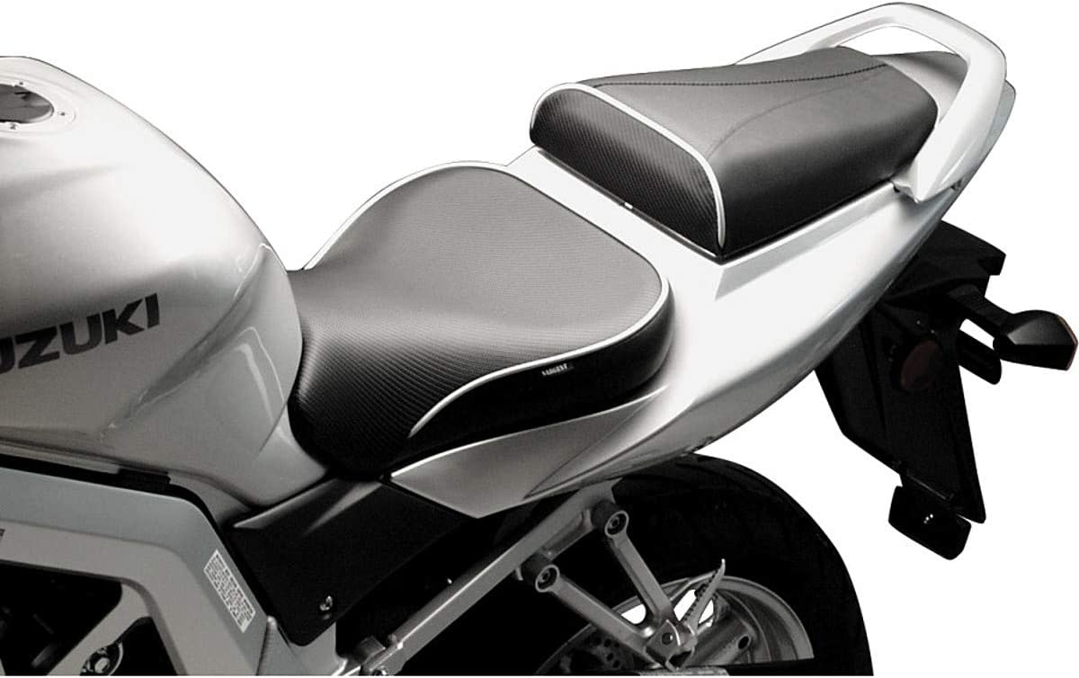 for 03 Suzuki SV650 Black Welt Sargent World Sport Performance Seat with Rear Seat Cover