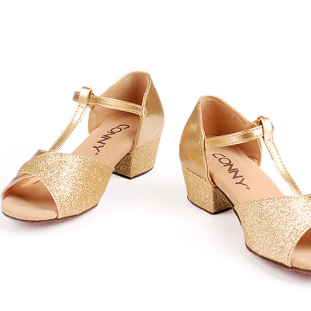 QWERTYUIOP Mädchen Latein Tanzschuhe Leder Leder Leder Leise Unten Mittleren Heels Dancing Schuhe Tango Salsa Soziale Tanzschuhe 1c3c03
