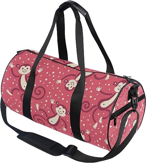 MALPLENA Burgundy Drum gym duffel bag women Travel Bag