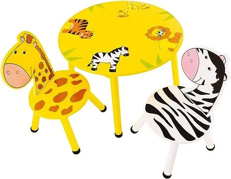 Bieco Juego de mesa y 2 sillas, mesa para niños a partir de 3 años ...
