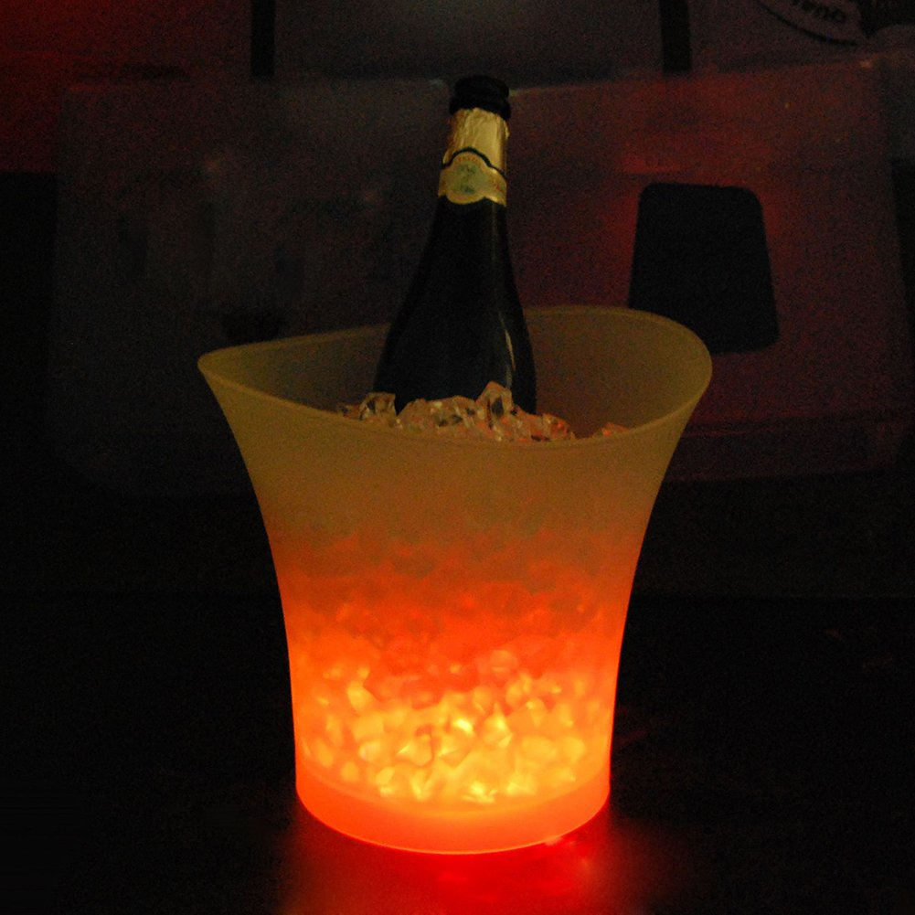 Smad Color Changing LED Ice Bucket Beverage Beer Champagne Bucket for Home/Bar/Party,5L