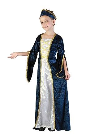 Bristol Novelty CC987 Traje Princesa Real, Blanco, Mediano, Edad aprox 5-7 años