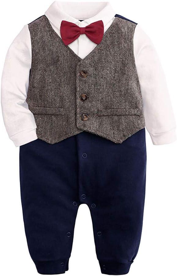 MAYOGO Mono para bebé con Corbata de Lazo Manga Larga Ropa Bautizo ...