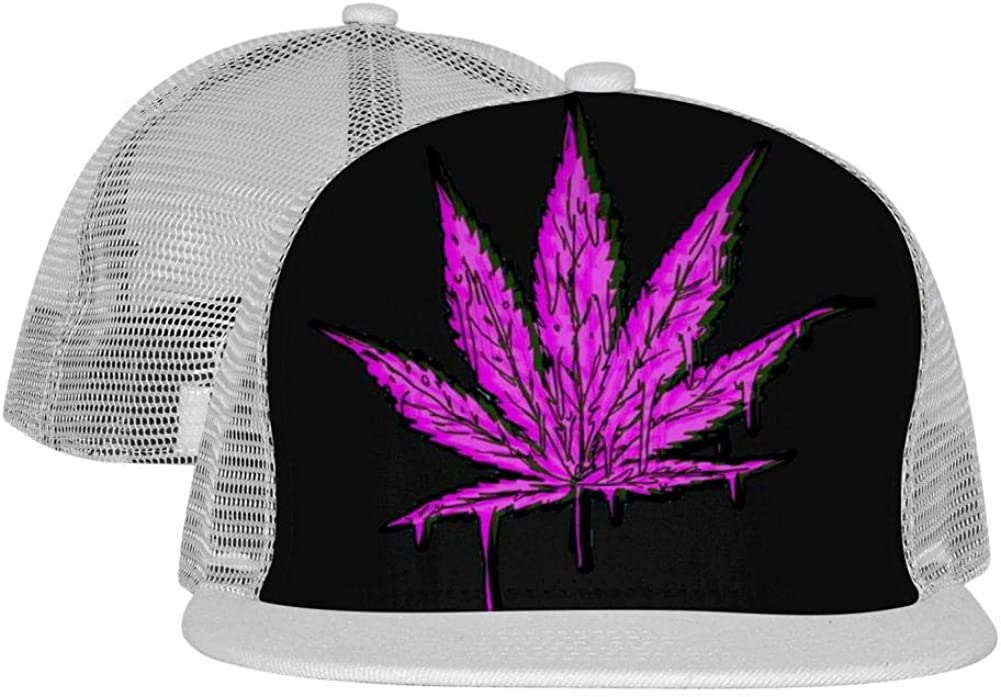 MAPICELLA Dripping Graffiti Weed Unisex Mesh Cap Fitted Adjustable Fashion Baseball Hats