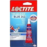 Loctite  Heavy Duty Threadlocker, 0.2 oz, Blue 242, Single