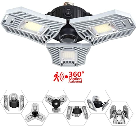 Warehouse Lamp Ceiling  E27//E26 LED Adjustable Three-Light Garage Pendant Light