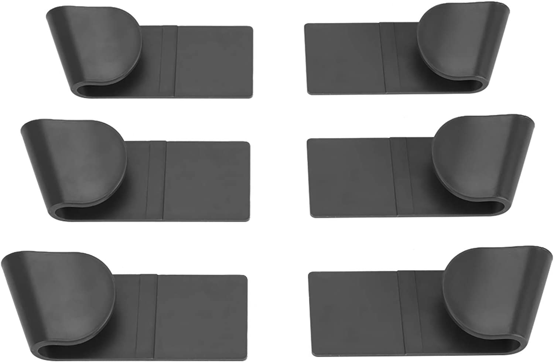 7.7x1.5x0.8in ROSEBEAR Pot Lid Holders,6Pcs Household CupboardStore Cabinet Door Punch-Free Wall-Mounted Pot Lid Storage Rack Holder Kitchen Utensils 19.5x3.7x2.1cm