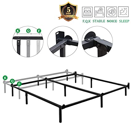 Width Of Queen Bed.Haageep Queen Size Bed Frame For Box Spring And Mattress Set Adjustable Full Beds King Frames Metal Bedframe Support