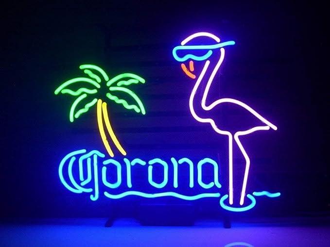 New Larger Corona Extra Pink Flamingo Neon Light Sign 20 X16 H105