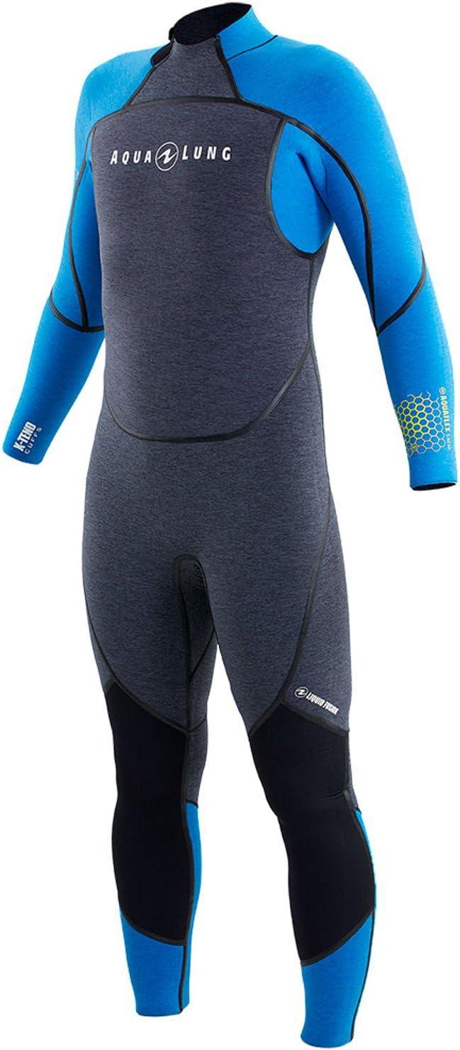 Aqualung Aquaflex 3 mmメンズウェットスーツ( Small ,グレー/ブルー)