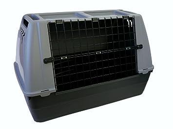 Bracco 80 transporte de perros de coche para perros box caseta para perro animal y gatos plástico: Amazon.es: Jardín