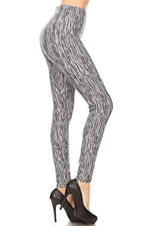 b8074ea48e4d57 Leggings Depot Women's Ultra Soft Printed Fashion Leggings BAT8 at ...