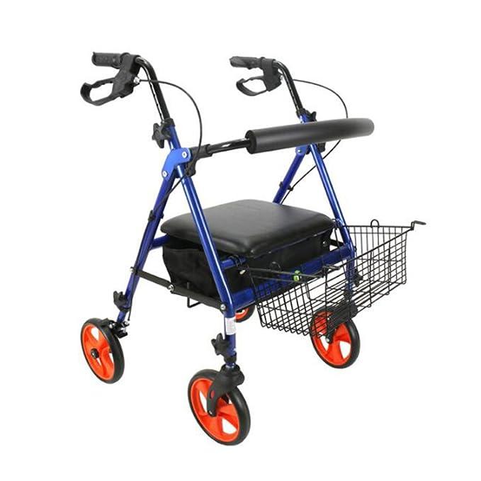 Caminante Ligero Andador Plegable Ajustable de Cuatro pies de la ...
