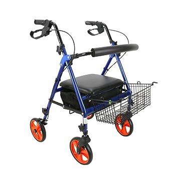 Caminante Ligero Andador Plegable Ajustable de Cuatro pies de la Base de la muleta Andador Scooter